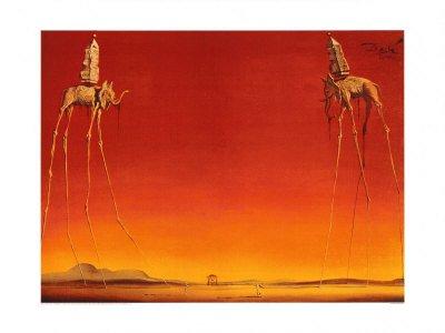 Salvador Dali – Les elefantes Artistica di Stampa (81,28 x 60,96 cm)