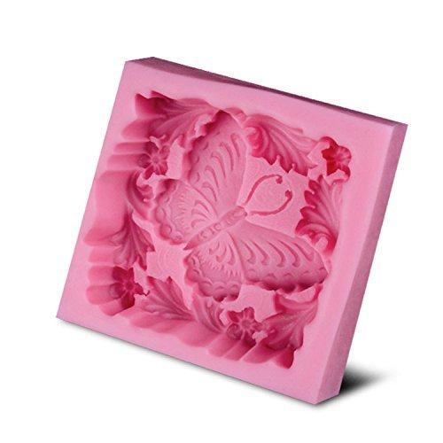 Baker depot muffa siliconica morbida di farfalla per sapone handmade sapone molds fondant mold colore rosa