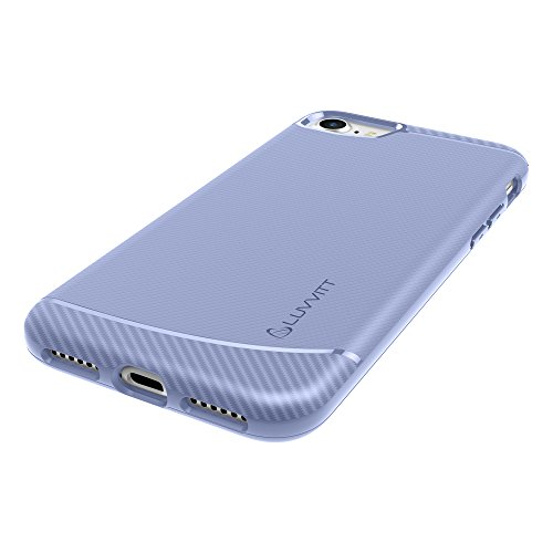 Custodia Iphone 7, LUVVITT [Sleek Armor] Custodia antiurto flessibile Back Cover Custodia protettiva in gomma TPU per Apple Iphone 7 Violet