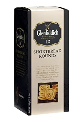 Walkers Shortbread Glenfiddich Whisky Shortbread Rounds Carton (Pack of 3)