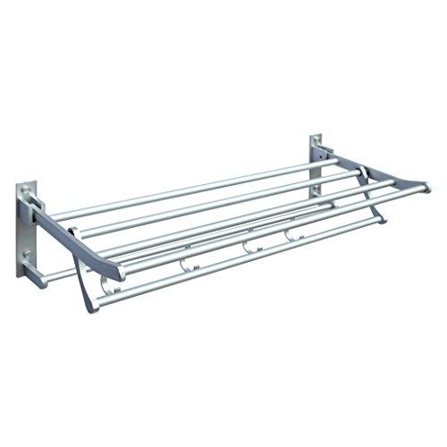 Home mall- Alluminio dello spazio bagno barra di tovagliolo Fold portasciugamani igienici Shelving