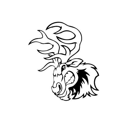 gsddsfFondo de pantallaCalcomanía de pared de dibujos animados de personalidad pegatinas de interruptor de vinilo de animales de ciervo enojado, negro