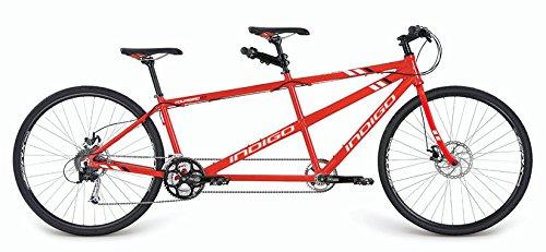 Indigo Turismo 3, Unisex Tandem Bike, 27 Speed, 700C Wheel, Vivid Red