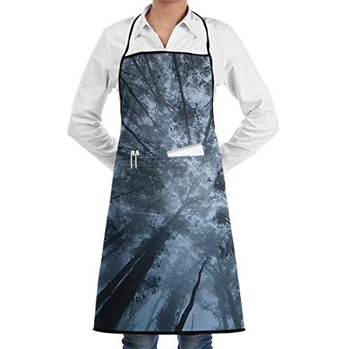 Drempad Schürzen Psychedelic Natural Jungle Bib Apron Chef Apron - with Pockets for Male and Female,Waterproof, Resistant to Droplets, Durable, Machine Washable, Comfortable, Easy Care Apron