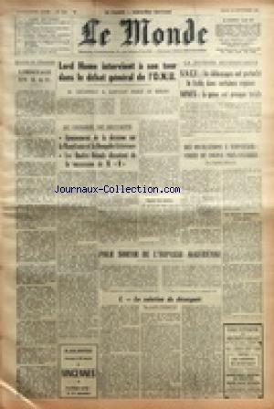MONDE (LE) [No 5193] du 28/09/1961 - LIM...