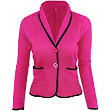 BaZhaHei-Chaqueta de Mujer, Mujeres Business Coat Blazer Suit Tops de Manga Larga Slim