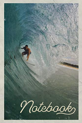 Notebook: Surfer Dude Handy Composition Book Journal Diary for Men, Women, Teen & Kids Vintage Retro Design Sunrise Surf
