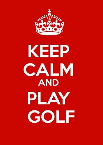 IamEngland Ruhe und Golf Spielen - Metall Schild - Größe ca. 400mm x 300mm,