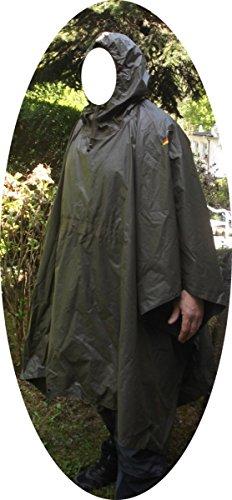 BW Bundeswehr Regenponcho gebraucht Poncho Nässeschutz Regenschutz Armyponcho