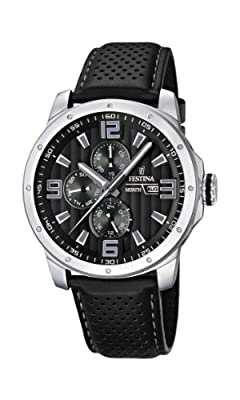 Reloj Festina F16585/4 de cuarzo para hombre con correa de piel, color negro de Festina