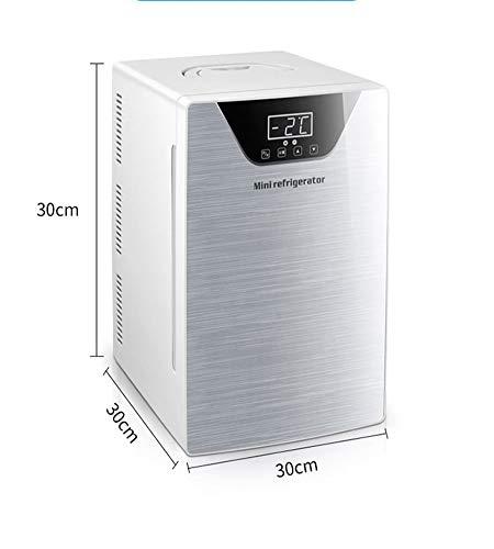 41hFuZWkorL - JCDZSW Refrigerador de automóvil CNC de Tres núcleos 20L Mini refrigerador pequeño de Doble Uso para el hogar Adecuado para refrigeradores de Alimentos, medicamentos, cosméticos, hogar y Viajes,Plata