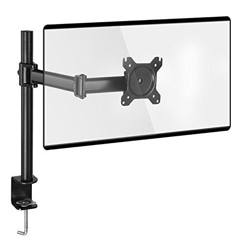 SONGMICS Monitorhalterung, Verstellbarer Monitorständer, Einzelmonitorarm für 13 bis 27 Zoll VESA Monitor bis 8 kg belastbar schwarz OMA01BK