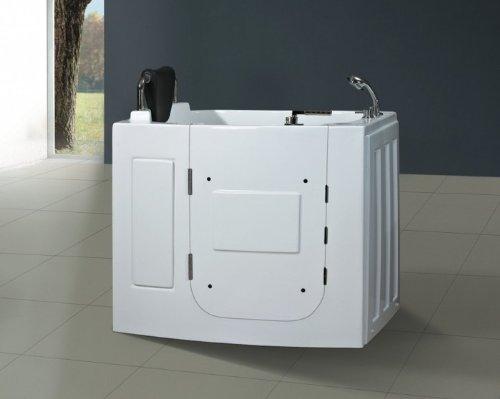 Preisvergleich Produktbild Senioren Sitzbadewanne Seniorenbadewanne Sitzwanne Badewanne mit Tür Pool A108