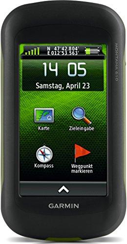 """Garmin Montana 610 GPS Portatile, Schermo da 4"""" Touch, Nero/Verde"""