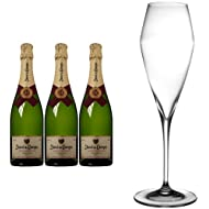 Juve y Camps Cinta Purpura Brut Reserva 2011 Wine 75 cl (Case of 3) and Riedel Vitis Champagne Glass
