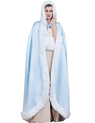 Dressvip - Poncho -  donna Sky Blue
