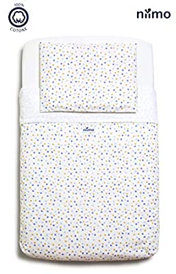 Next to me Sabanas,set de sábanas 100% algodón para cuna de colecho 50x83
