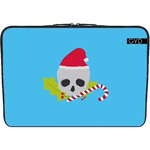 """Coperchio Neoprene Laptop Netbook PC 13.3 """"pollici - Cranio Chirstmas Con La Caramella by ilovecotton"""