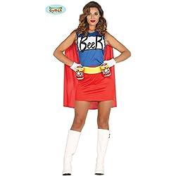 shoperama Disfraz para Mujer Simpsons Cerveza Mujer Vestido con Lata Soporte de cinturón Duff Beer. Man Woman Muñeco de Cerveza Cerveza de muñeco Cerveza de Mujer