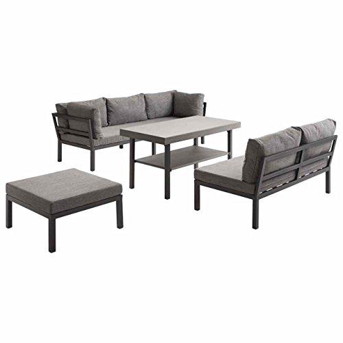 OUTLIV. Lounge Set Austin Loungemöbel Alu/Textil 4-tlg Gartenlounge Loungegruppe Loungemöbel
