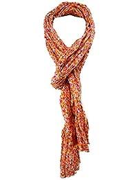 77f2070bf814 TigerTie - Echarpe - Femme Orange Orange Rot Gelb Weiß Taille unique