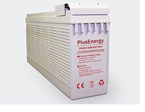 wccsolar.es Bateria AGM PlusEnergy FT12-250 12V-250AH Baterias de Larga Vidas y Descarga Profunda