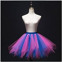 Mujeres y Chicas Falda de Tutú Princesa Ballet Realizando Vestido Ropa de baile (para adultos, mixed 7)