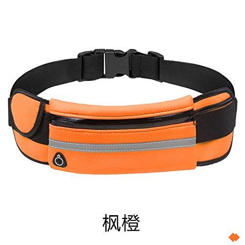 Multifunktionale Taille Tasche, Laufen Üben, Handtasche, Outdoor, Wasserdichte Multifunktions - maple orange