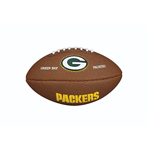 Wilson NFL Team Logo Mini Green Bay Packers American Football, Braun, Größe Mini