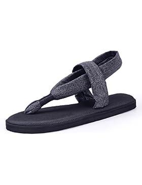 Santiro Zehentrenner Damen Yoga Matte Sohle Sandalen