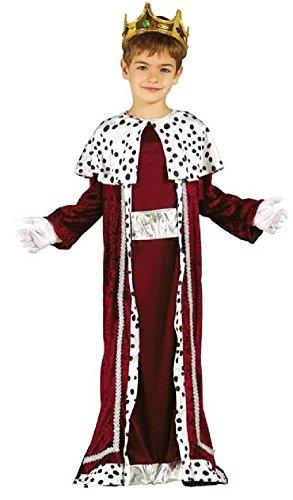 Kinder Men Kostüm 3 Wise - Fancy Me Jungen roten König Weiser Mann Herren Weihnachten Krippe Verkleidung Kostüm Outfit 3-12 Jahre - Rot, 5-6 Years