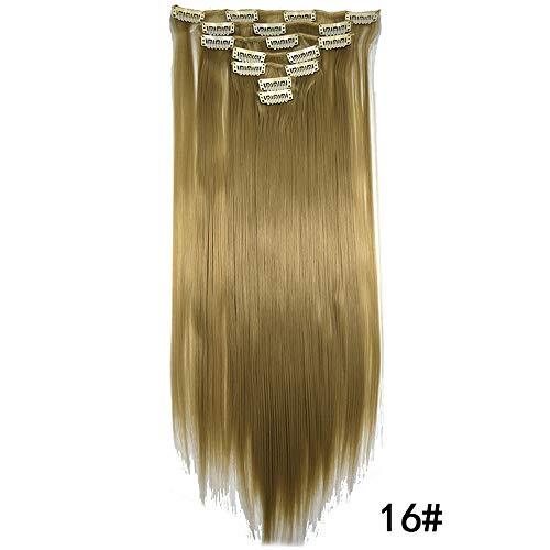 (Junjie Damenmode Gerade Kurzes Haar Mittelteil Perücke Mädchen Neu Perücke Blond Glatt stilvoll Mittler Lang Haar Wigs für Cosplay)