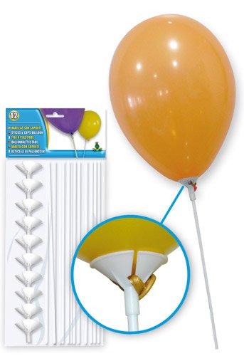 Generique - 12 Kunststoffstangen für Ballons