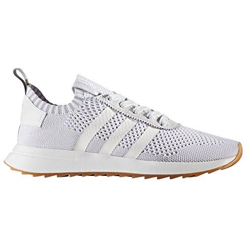 adidas Primeknit Flashback FLB. Blancas y Verdes. Zapatillas deportivas Running para Mujer (38.5 EU, White/Clear Grey)