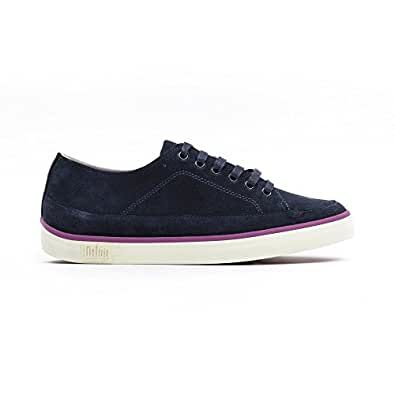 FitFlop Super T Sneaker Leather Super Navy - (Womens - 3 uk)
