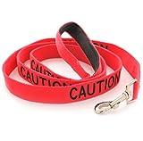 Dexil 'Caution Red codice colore di nylon, 1.2m, con maniglia imbottita guinzaglio standard (non approccio) evita incidenti di attenzione altri del tuo cane in anticipo.