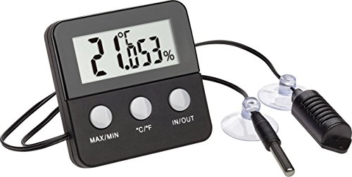 TFA Dostmann 30.5044.01terracheck-Termometro e igrometro Digitale per Il Controllo climatico in terrari, Nero, 6.5x 3x 6.5cm