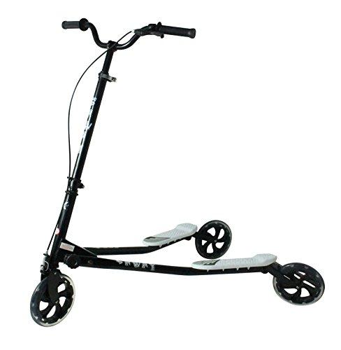 Kidzmotion Shway 3 wheel swing scooter speeder drifter white frame / red trim (14+ years)XL by Kidzmotion -