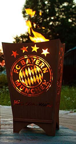 feuerfa  FC Bayern Feuertonne/Feuerfaß / Feuerkorb ** Rost **