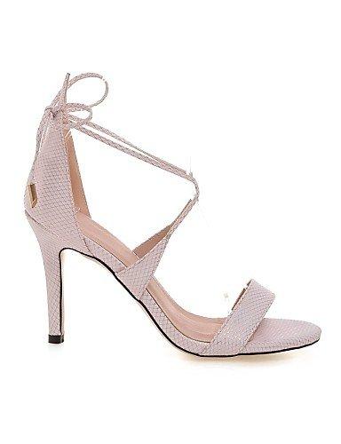 LFNLYX Scarpe Donna-Sandali-Formale / Casual / Serata e festa-Tacchi / Cinturino alla caviglia-A stiletto-Materiali personalizzati / Finta pelle- Gray