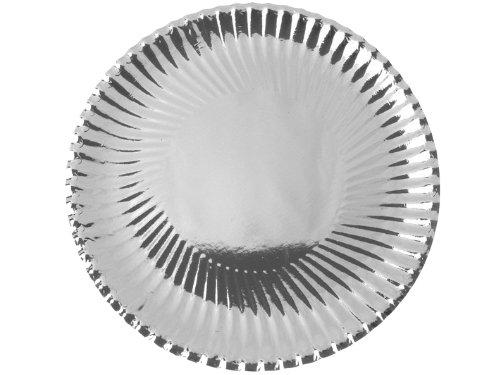 Pappteller gewellter Rand silber, 30 cm, 10 Stück