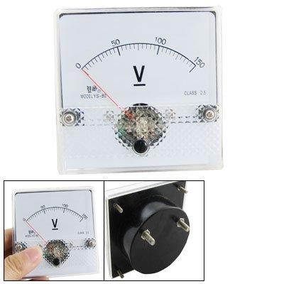 DC 0-150 V Eckig, Analog Panel Meter Voltmeter Messgerät (150v Analog)