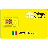 SIM Card M2M ITALIA Things Mobile con copertura globale e rete multi-operatore GSM/2G/3G/4G LTE, senza costi fissi, senza scadenza e tariffe competitive, con 10 € di credito incluso