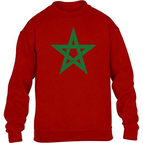 Fantrikot Nationalmannschaft Marokko Kinder Pullover Sweatshirt S S 122/128 Rot