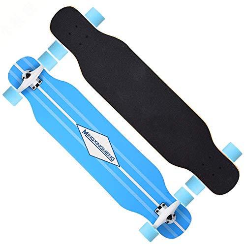 SHLYXY 42x9,4 Zoll Skateboard Komplettes Longboard für Kinder Erwachsene Anfänger mit ABEC-9 Kugellagern zum Cruisen, Pendeln, Schnitzen-B