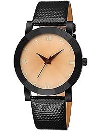 Kinlene Deporte de lujo acero inoxidable cuarzo militar reloj de muñeca de banda de cuero de Dial mujer jombres Reloj (A)