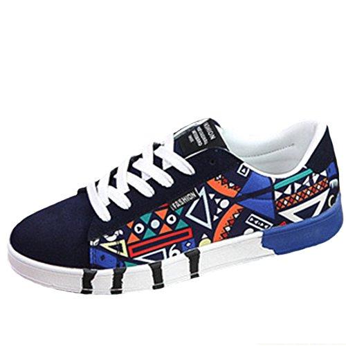 Men's Geometric Teenage Canvas Skateboarding Shoes C