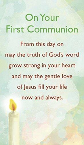 En su primera Comunión–Tarjeta de oración)
