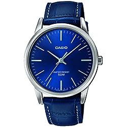 Casio Reloj Analógico para Hombre de Cuarzo con Correa en Cuero MTP-1303PL-2FVEF