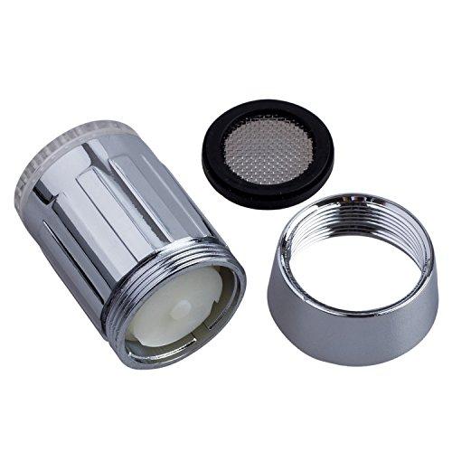 SODIAL(WZ.) 3 Farben Wasser Leuchtend LED Wasserhahn Licht Lampe Temperaturfuehler